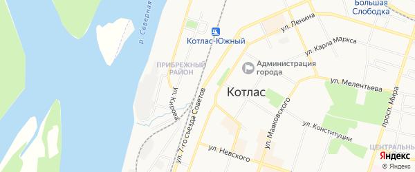 ГСК N62 на карте улицы 7-го Съезда Советов с номерами домов
