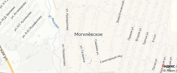 Строительная улица на карте Могилевского села с номерами домов