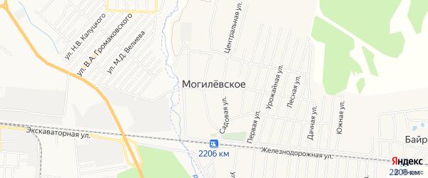 Карта Могилевского села в Дагестане с улицами и номерами домов