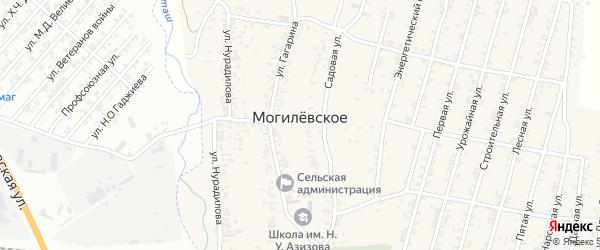 Зеленая улица на карте Могилевского села с номерами домов