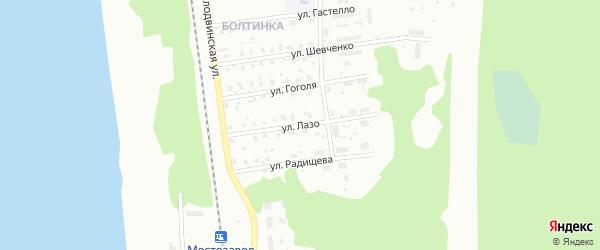 Улица Лазо на карте Котласа с номерами домов