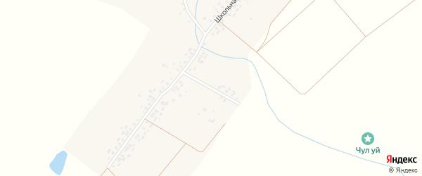 Ветеринарный переулок на карте деревни Таутово с номерами домов