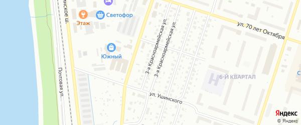 3-я Красноармейская улица на карте Котласа с номерами домов