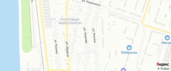 Улица Чкалова на карте Котласа с номерами домов