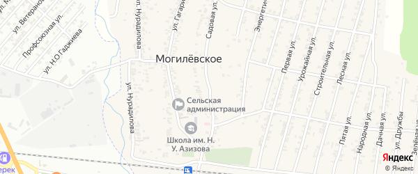 Садовая улица на карте села Казмаула с номерами домов