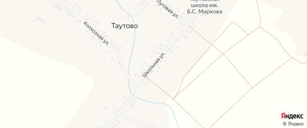 Школьная улица на карте деревни Таутово с номерами домов