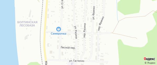 Улица Культпросвета на карте Котласа с номерами домов