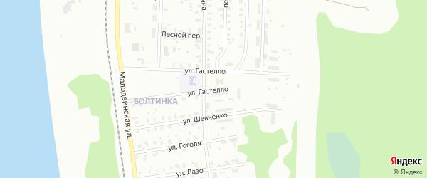 Улица Гастелло на карте Котласа с номерами домов