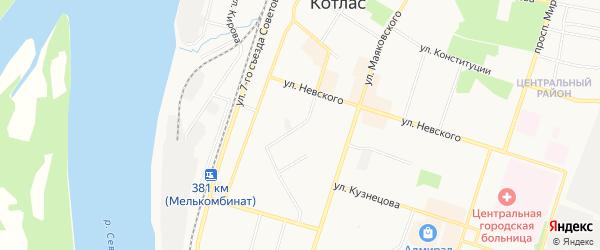 ГСК N67 на карте улицы Калинина с номерами домов