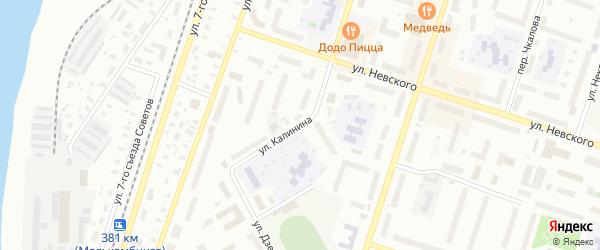 Улица Калинина на карте Котласа с номерами домов