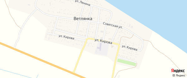 Улица Кирова на карте села Ветлянки с номерами домов