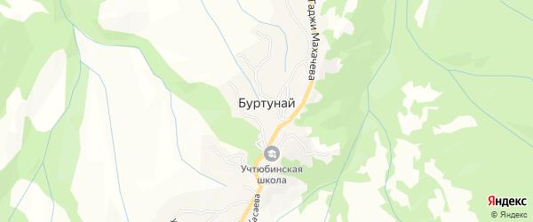 Карта села Буртуная в Дагестане с улицами и номерами домов