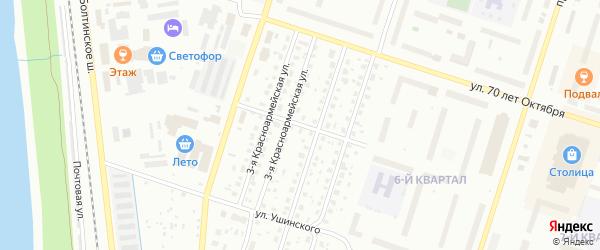 Улица Щербакова на карте Котласа с номерами домов