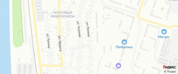 Улица Репина на карте Котласа с номерами домов