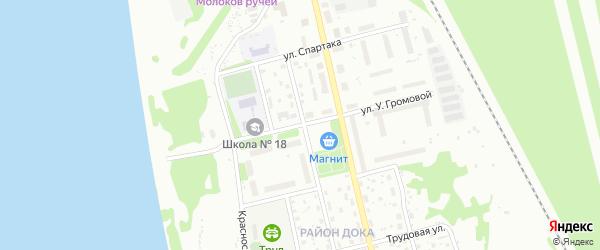 Улица У.Громовой на карте Котласа с номерами домов