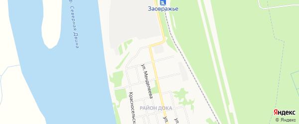 ГСК N71 на карте улицы Спартака с номерами домов