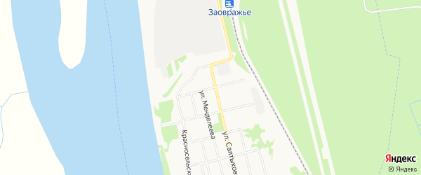 ГСК N73 на карте улицы Спартака с номерами домов