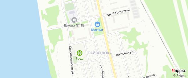 Улица Ермакова на карте Котласа с номерами домов