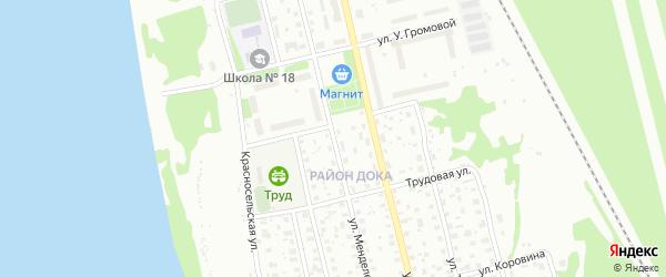 Улица Менделеева на карте Котласа с номерами домов