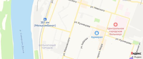 ГСК N120 на карте улицы Маяковского с номерами домов