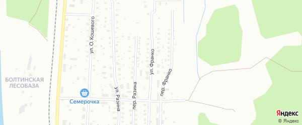 Улица Франко на карте Котласа с номерами домов