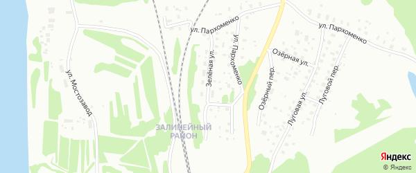 Зеленая улица на карте Котласа с номерами домов