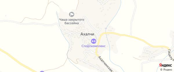 Верхнеахалчинская улица на карте села Ахалчи с номерами домов