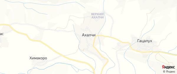 Карта села Ахалчи в Дагестане с улицами и номерами домов