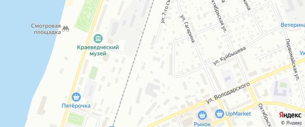 Улица 7-го Съезда Советов на карте Котласа с номерами домов