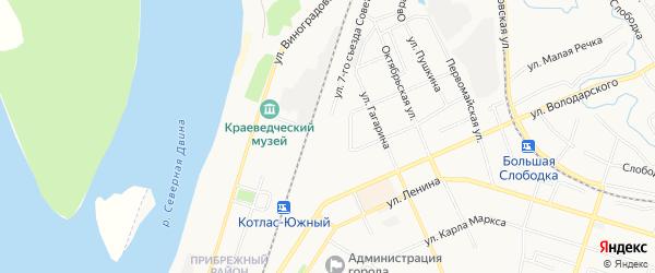 ГСК Медик на карте улицы 7-го Съезда Советов с номерами домов