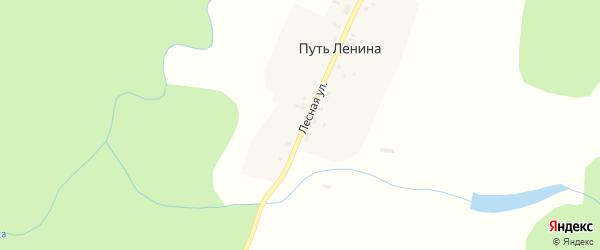 Лесная улица на карте поселка Путь Ленина с номерами домов