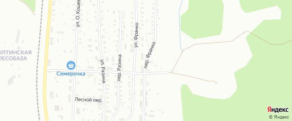 Переулок Франко на карте Котласа с номерами домов