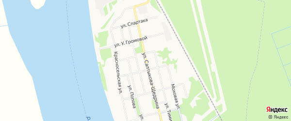 ГСК N72 на карте улицы С.-Щедрина с номерами домов