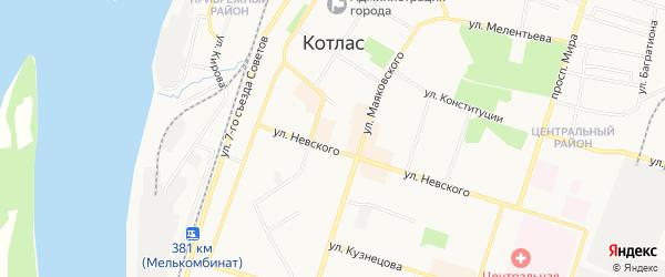 ГСК N13 на карте улицы Невского с номерами домов