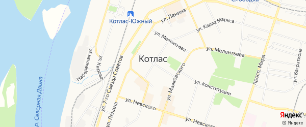 ГСК N64 на карте улицы Р. Куликова с номерами домов