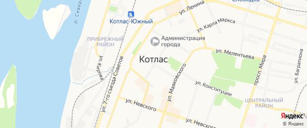 ГСК N40 на карте улицы Р. Куликова с номерами домов