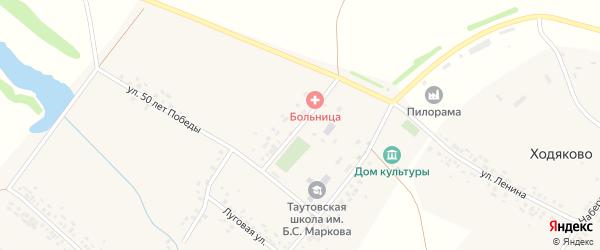 Молодежная улица на карте деревни Таутово с номерами домов