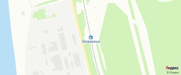Станция Заовражье на карте Котласа с номерами домов