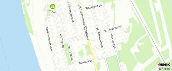 Улица Коровина на карте Котласа с номерами домов