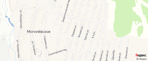 Центральная улица 1-й проезд на карте Хасавюрта с номерами домов