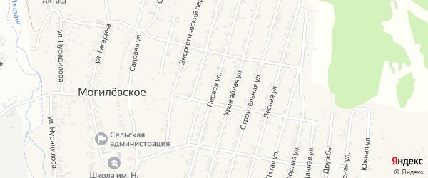 Бригадная улица 1-й проезд на карте Хасавюрта с номерами домов