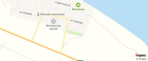 Октябрьская улица на карте села Ветлянки с номерами домов