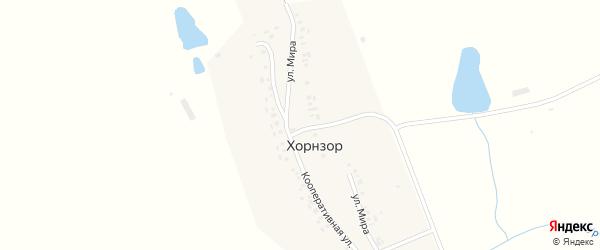 Кооперативная улица на карте деревни Хорнзора с номерами домов