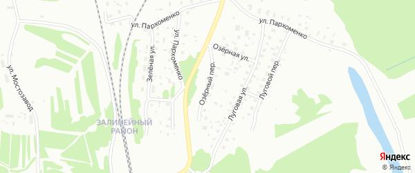 Озерный переулок на карте Котласа с номерами домов