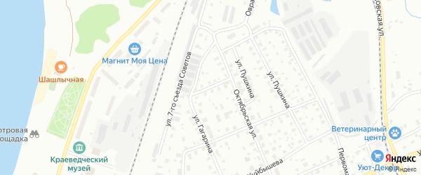 Улица Островского на карте Котласа с номерами домов