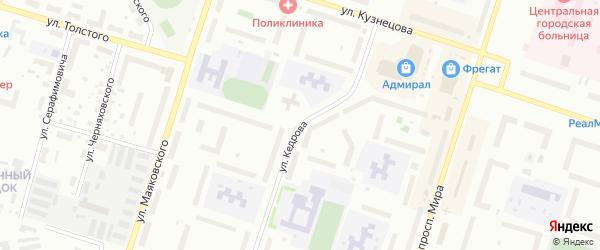 Улица Кедрова на карте Котласа с номерами домов