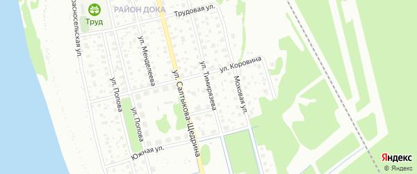 Улица Тимирязева на карте Котласа с номерами домов