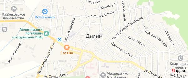Ленинградская улица на карте села Дылыма с номерами домов