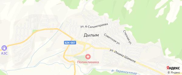 Карта села Дылыма в Дагестане с улицами и номерами домов
