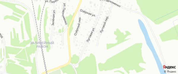 Луговая улица на карте Котласа с номерами домов